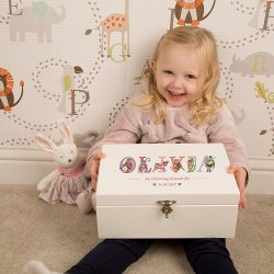 Christening Keepsake Box for Girl