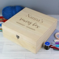 Personalised Floral Sewing Box
