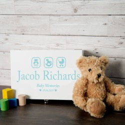 Blue Baby Boy Memory Box