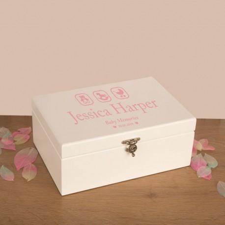 Pink Baby Girl Memory Box