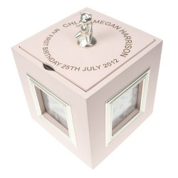 Pink Musical Keepsake Box with Photo Frames