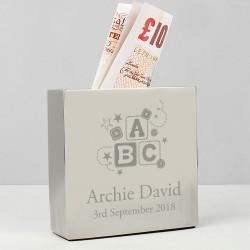 Personalised ABC Square Money Box