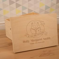 Personalised Girl's Laser Engraved 1st Communion Keepsake Box