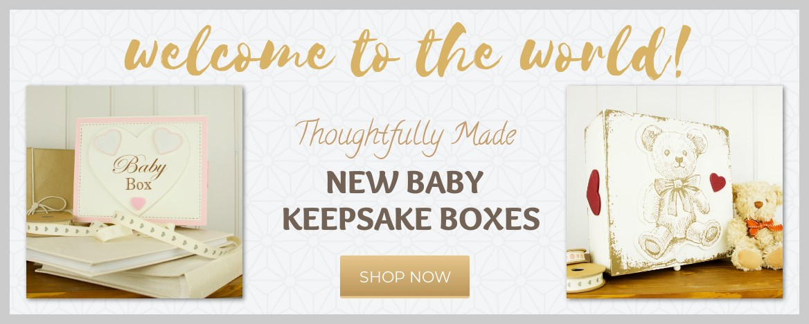 New baby keepsake Boxes