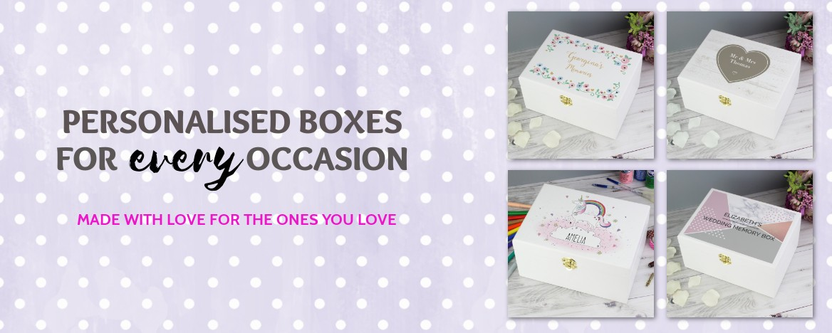 personalised keepsake boxes made with love